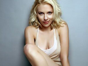It's all about the looks - Scarlett Johansson