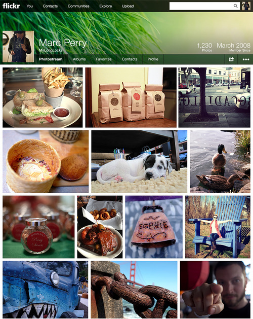 New Flickr Photostream Screenshot